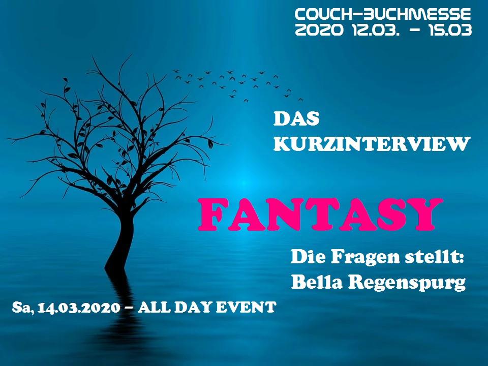 Couch-Buchmesse 2020 Kurzinterview für Fantasy-Autoren